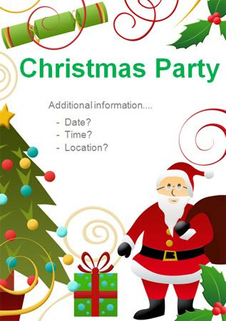 Editable Christmas Party Poster | Editable Posters for School ...