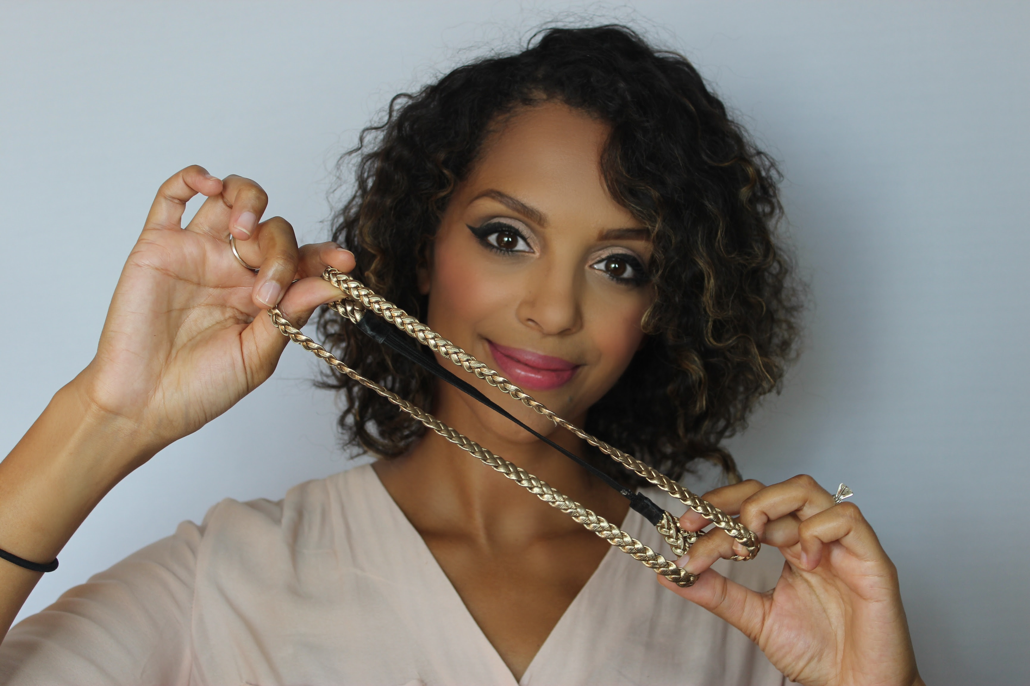 Curly Gibson Tuck Tutorial Melting Pot Beauty