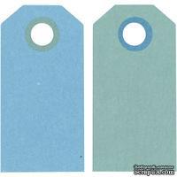 Теги от Hobby&You - Манила, 6x3 см, темно-бирюзовый/светло-бирюзовый, 1 шт - ScrapUA.com