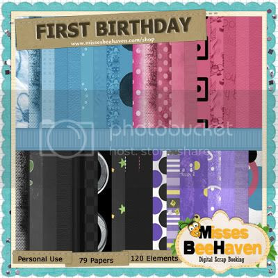 First Birthday Mega Kit Papers2
