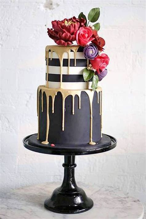 Top 20 Yammy Drip Wedding Cakes   Roses & Rings