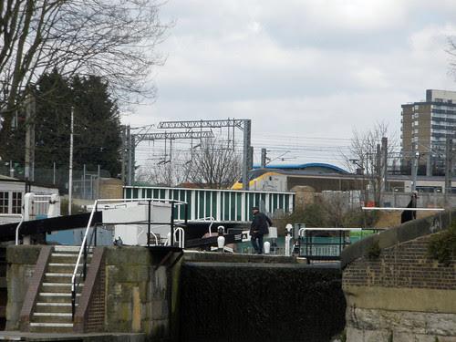 St Pancras Lock, Regent's Canal + Eurostar