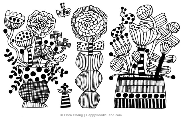 Potted Plants Sketch #4