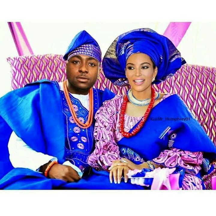 Traditional Wedding Photo Of Davido And Kim Kardashian (Photoshopped)