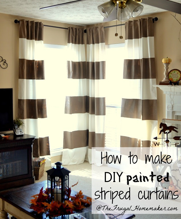 DIY Painted Striped Curtains (yes, I painted my curtains!)