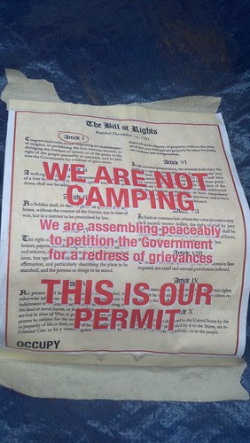 We are not camping (Occupy DC)
