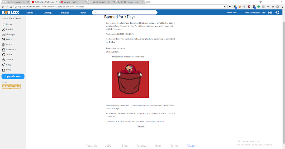 Roblox Ban Ugandan Knuckles Cheat In Roblox Robux
