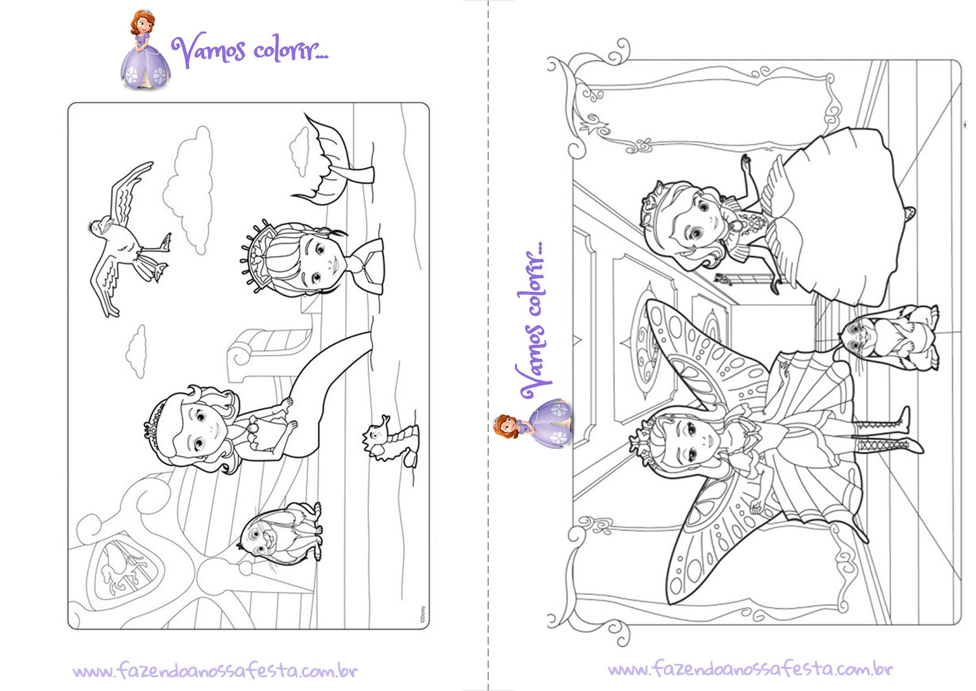 Luxo Desenhos Para Colorir Princesa Sofia Imprimir