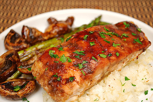 Fig Balsamic Glazed Salmon