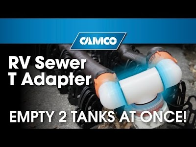RV & Camping Products from Camco: Sewer T Adapter, Pocket Saw, Mosquito Coil Holder, Laundry Reel & Tent Whisk
