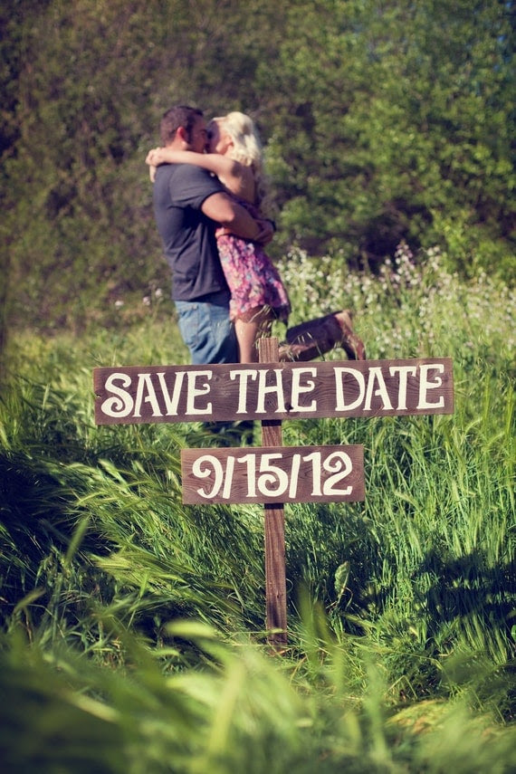 Save The Date Wooden Wedding Sign Rustic Wedding Photos Country Wedding Prop For the Eco Bride