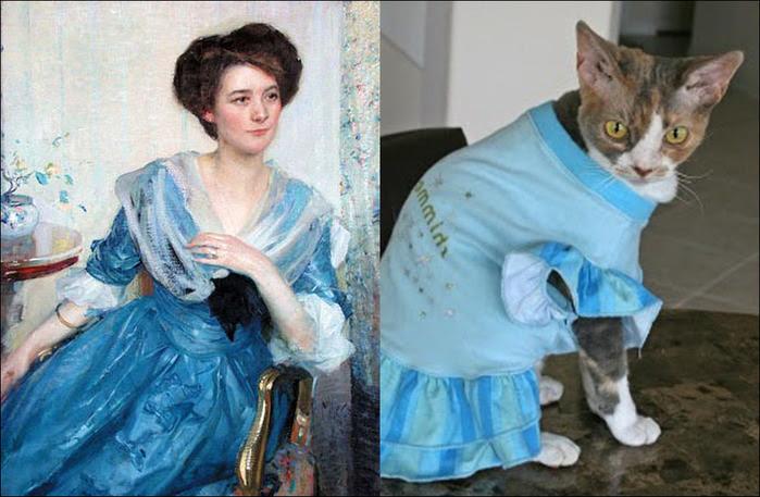 кошки в живописи 10 (700x457, 121Kb)