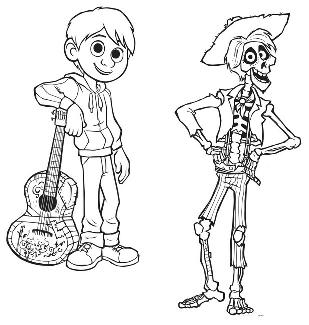 Dibujos Para Colorear Coco Morning Kids