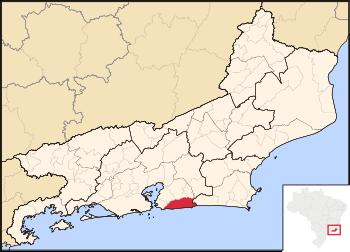 Map locator of Rio de Janeiro's Maricá city