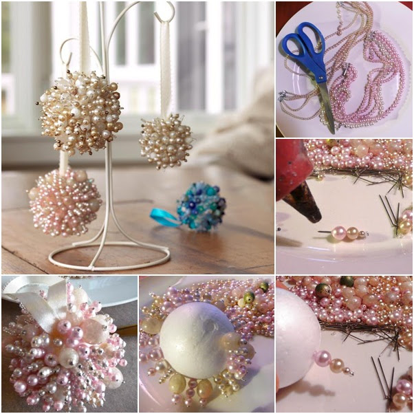 You can also cover Styrofoam ball with small paper flowers instead of