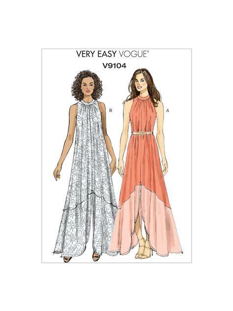Vogue Very Easy Women's Slit Hem Maxi Dress Sewing Pattern