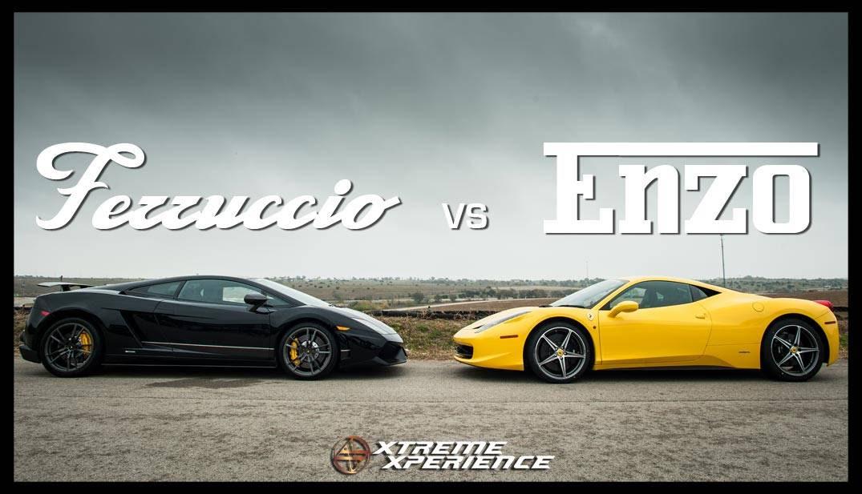 Balapan Ferrari vs Lamborghini