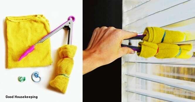 Ideias geniais para a limpeza de áreas de difícil acesso