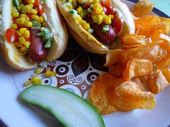 all-dressed hot dogs