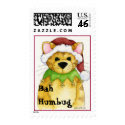 Merry Christmas from the cat Bah Humbug Postage stamp