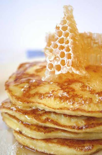 Bill Granger's Ricotta Hotcakes with Leatherwood Honeycomb