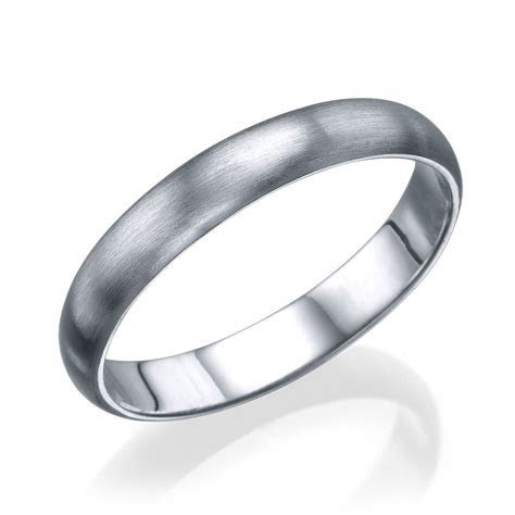 Platinum Men's Wedding Ring   3.6mm Rounded Design by