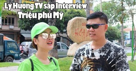 Triệu phú Mỹ nhận lời interview từ Lý Hương TV ở Quán Phở Đệ Nhất Sài Gòn