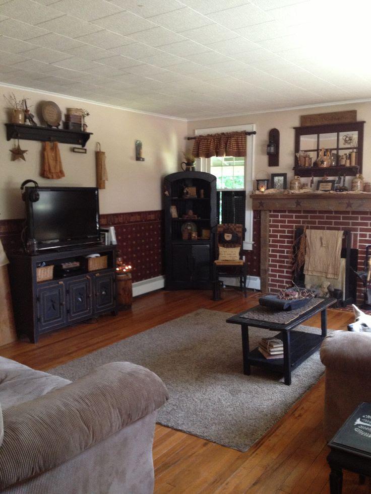 Primitive Living Room Decor - Zion Star