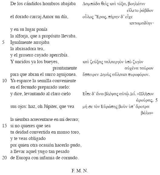 La Arcadia Mexicana Y Sus Traducciones De Anacreonte