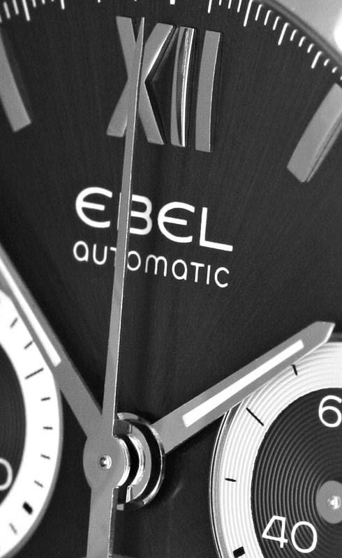 Foto 3, Automatik Ebel Classic Wave Chornograph Stahl Herrenuhr, U1659