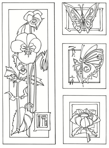 Disegni Da Colorare Farfalle E Fiori Coloradisegni