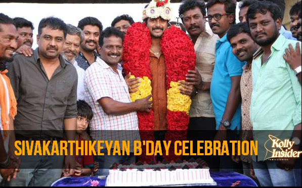Siva Karthikeyan's Surprise B'Day bash in Rajini Murugan sets