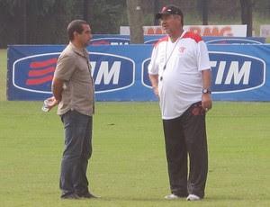 Zinho e Joel Santana  (Foto: Richard Fausto de Souza / Globoesporte.com)