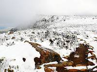Looking towards the South Summit from the top of the ZigZag Track, Mt Wellington - 23rd July 2008