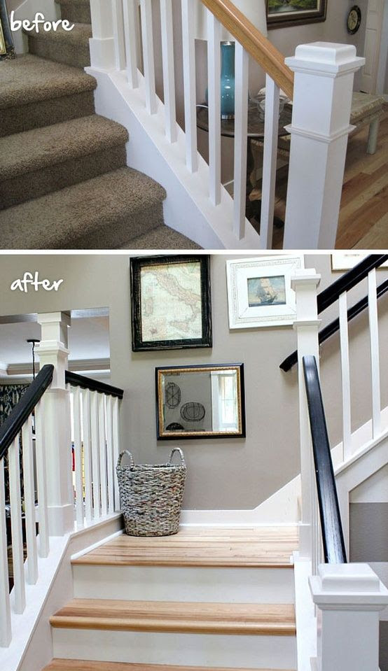 Updated staircase @ Home Remodeling Ideas