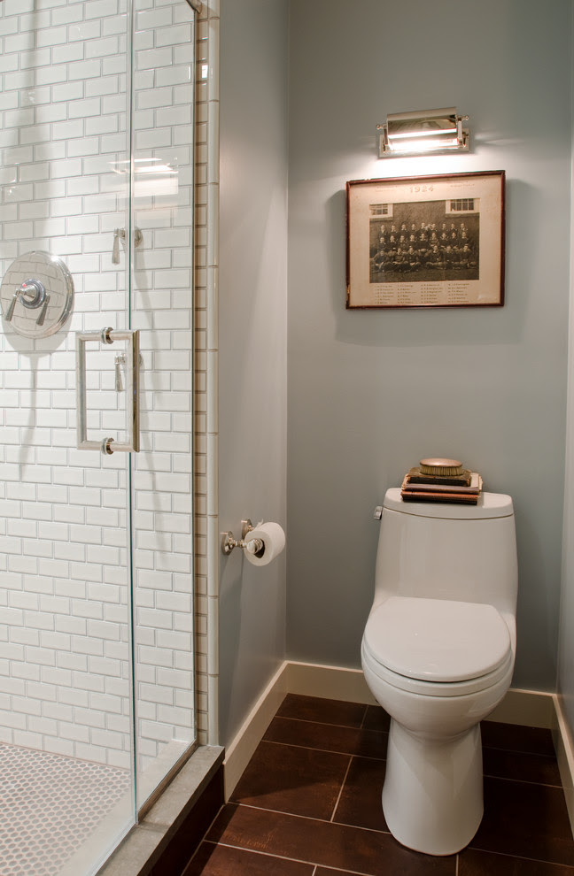 Baroque Penny Round Tile In Bathroom Contemporary With Tiled Shower Next To Subway Tile Shower Alongside Bullnose Tile And Shower Floor Tile