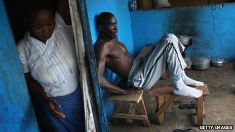 Man with suspected ebola
