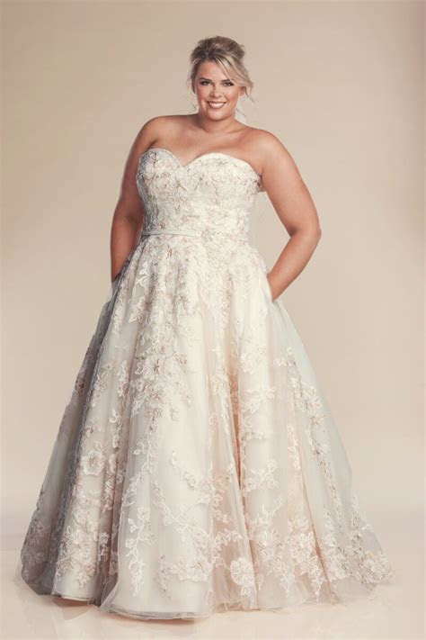Pink wedding dress   Plus size perfection bridal gowns