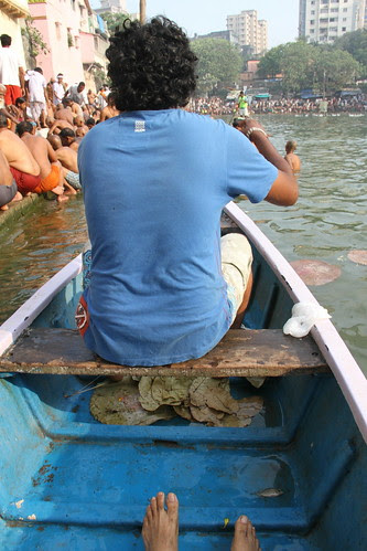 The Barefeet Blogger In The Boat at Banganga by firoze shakir photographerno1