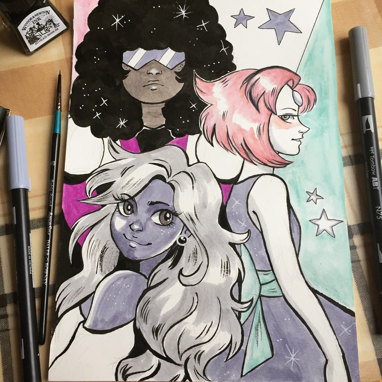 The gals for Inktober day 11, and the guys for day 10!