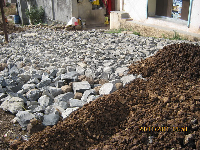 Foundation of 21 feet wide tar road to Urbangram Kirkatwadi, A 2 BHK Flat for Rs. 25 Lakhs on Sinhagad Road, Pune 411 024