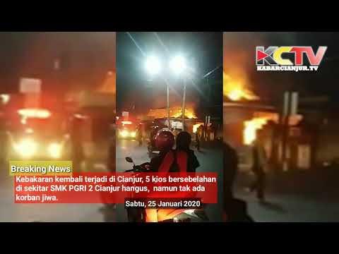 KABARCIANJUR.TV | Api Melalap 5 Kios di Jl. Abdullah Bin Nuh Cianjur