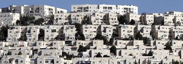 La colonia di Ramat Shlomo, costruita nel settore palestinese doi Gerusalemme, 8 dicembre 2012 (AHMAD GHARABLI/AFP/Getty Images)