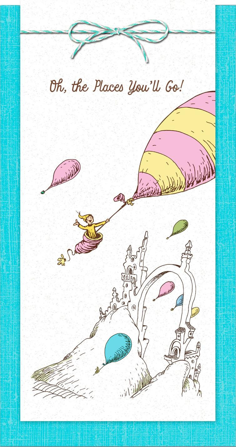 Dr Seuss Oh The Places Youll Go Money Holder Graduation Card