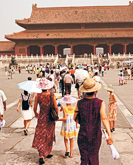 A crowd touring the grounds of Beijing's Forbidden City. Visitors are often forced to wait in hours-long lines to gain access to the attraction, which was named the 10th Most Visited Tourist Attraction in the World by Love Home Swap, a home exchange club that offers 70,000-plus properties in 160 countries.