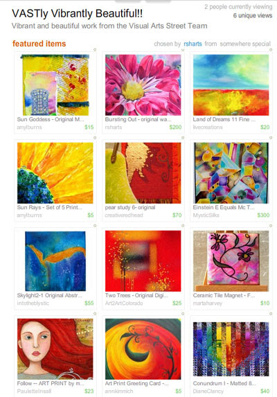 VASTly Vibrantly Beautiful Treasury