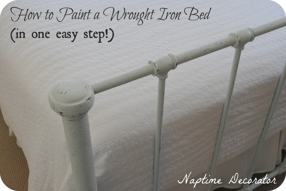 How To Paint A Wrought Iron Bed Frame In One Easy Step