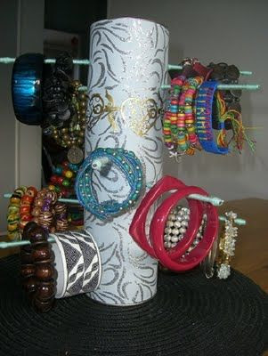 Wondering what to do with your toilet paper rolls? - Organize your Jewerly | Thinking Out Loud