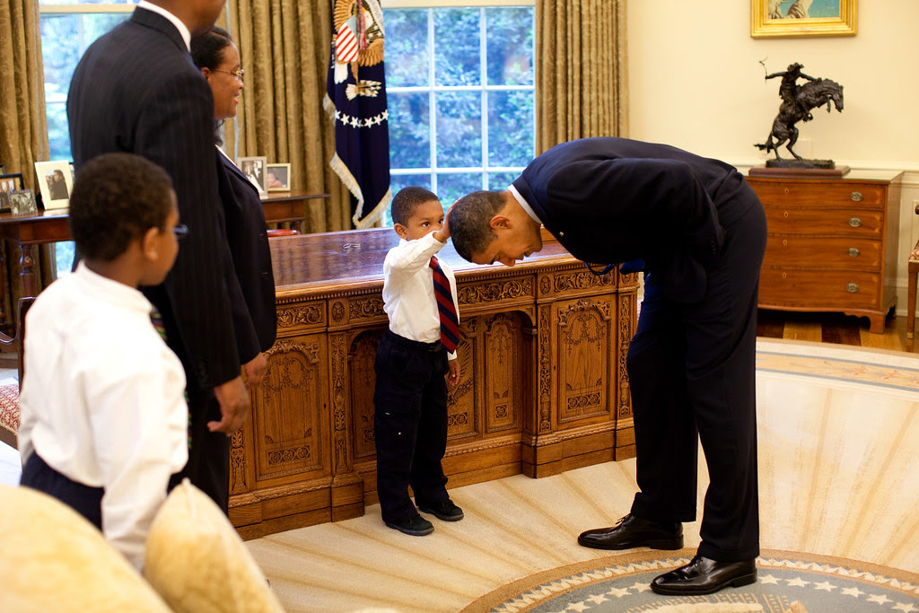Obama and small friend