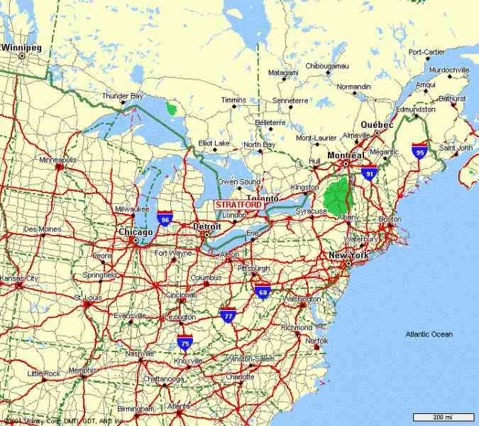 Driving Map Of United States Eastern States